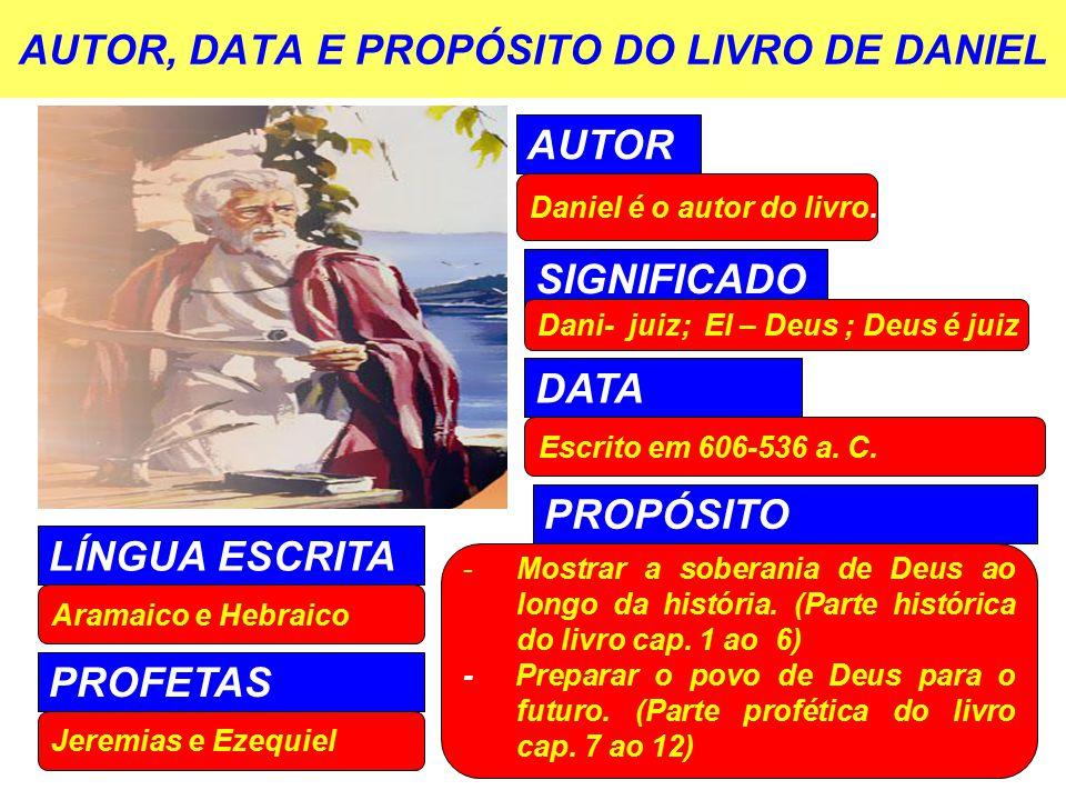 AUTOR, DATA E PROPÓSITO DO LIVRO DE DANIEL