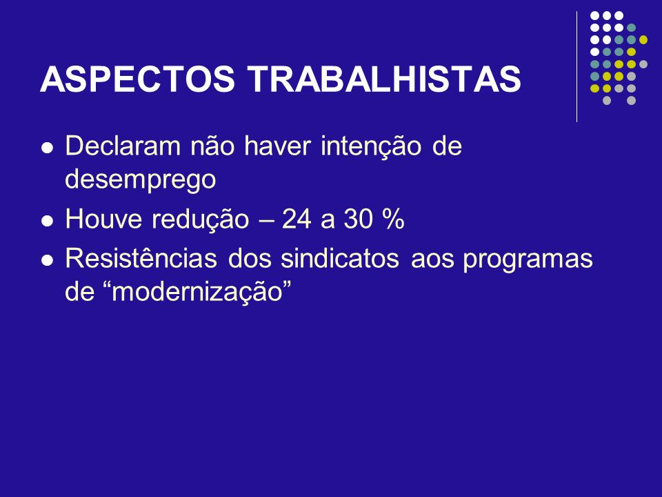 ASPECTOS TRABALHISTAS