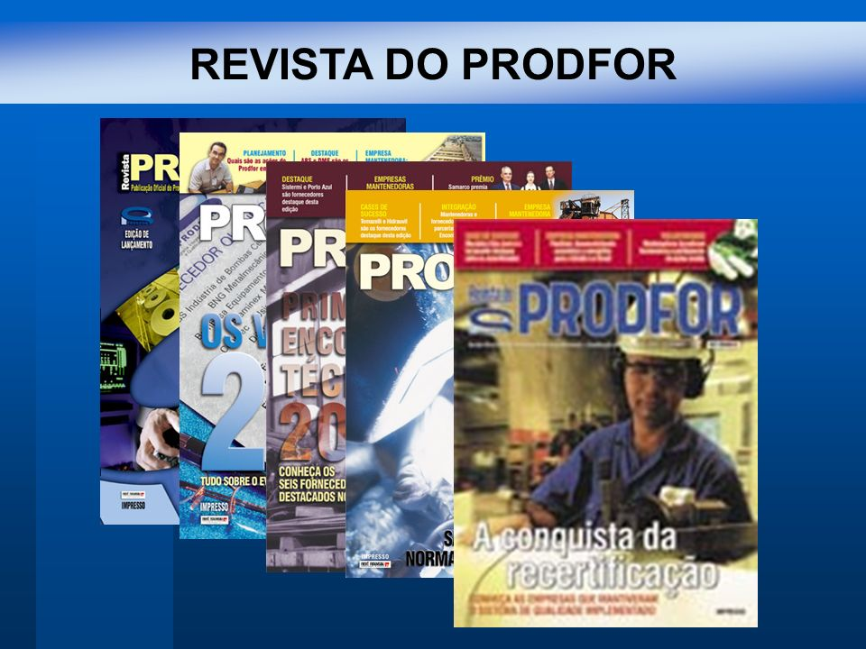 REVISTA DO PRODFOR
