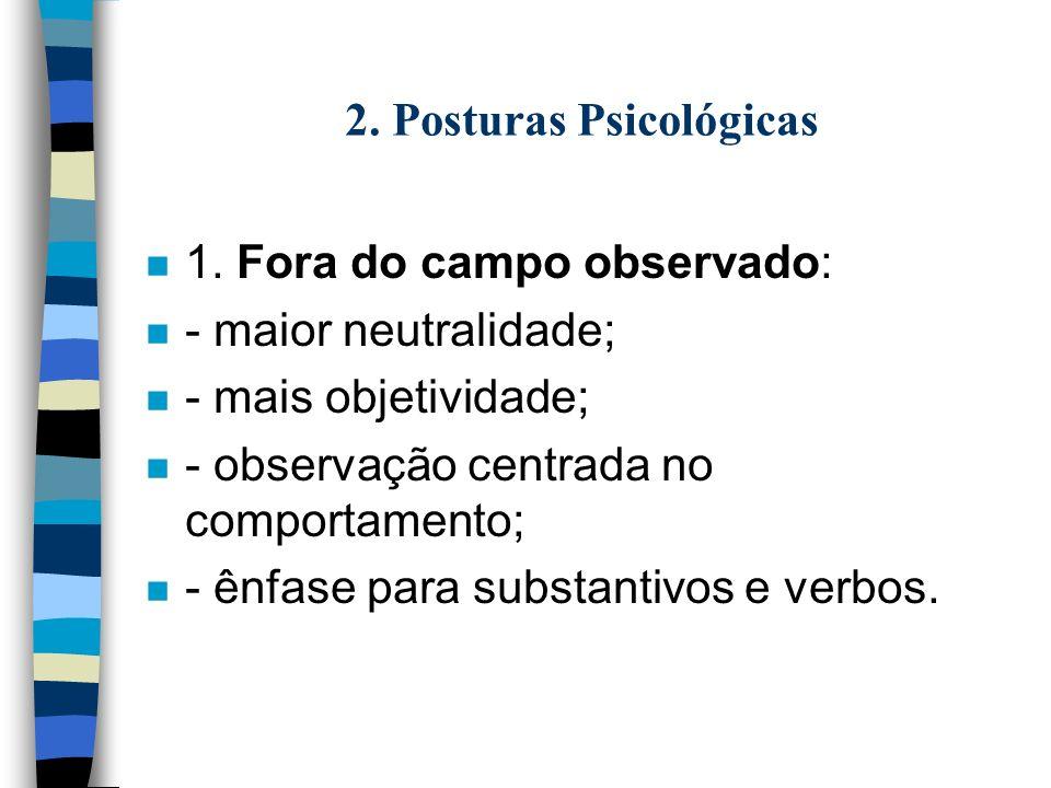 2. Posturas Psicológicas