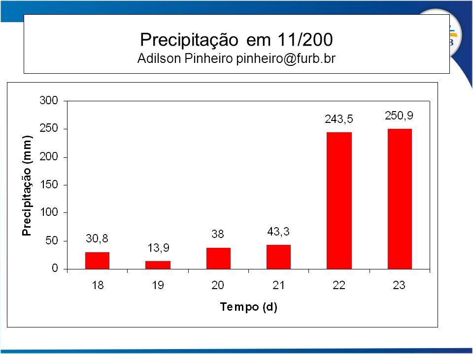 Precipitação em 11/200 Adilson Pinheiro pinheiro@furb.br