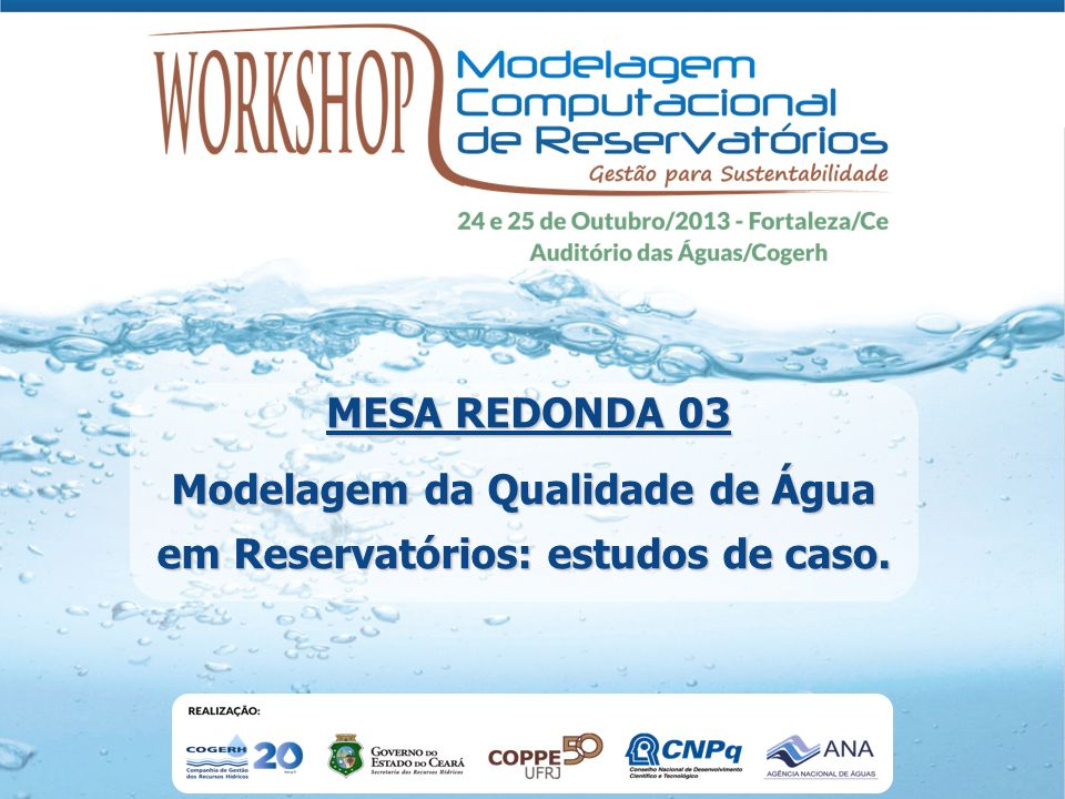 Modelagem da Qualidade de Água em Reservatórios: estudos de caso.
