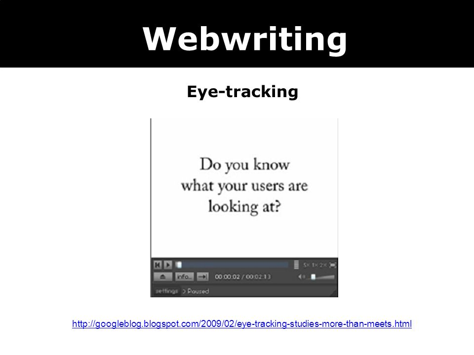 Webwriting Eye-tracking