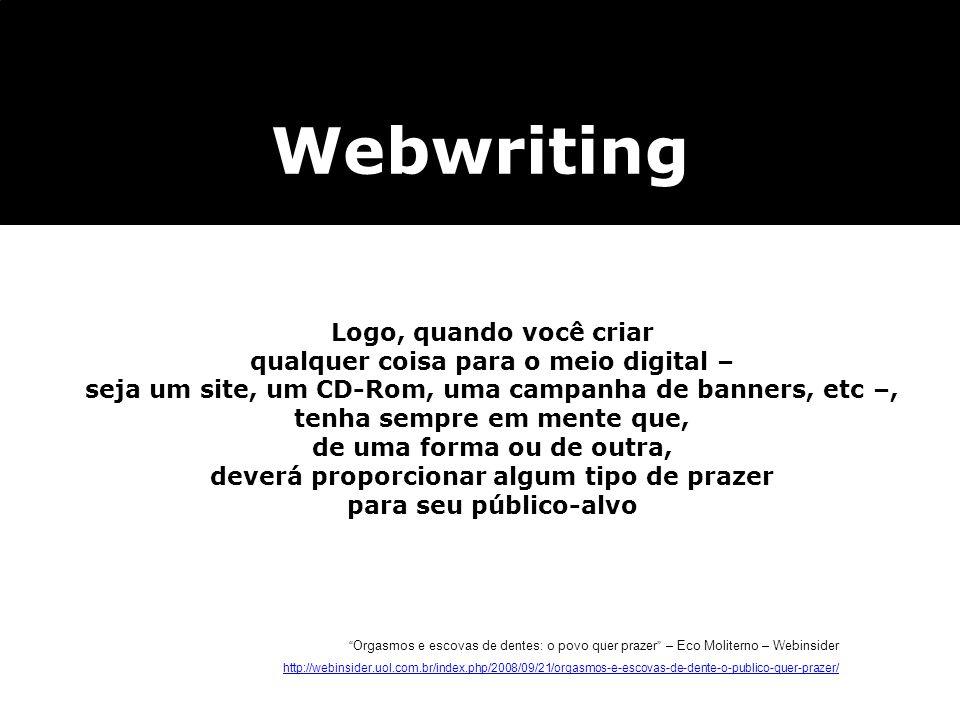 Webwriting Logo, quando você criar