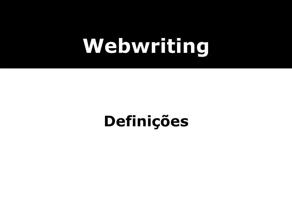 Webwriting Definições 3