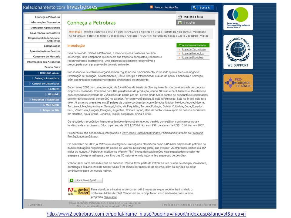 http://www2. petrobras. com. br/portal/frame_ri. asp