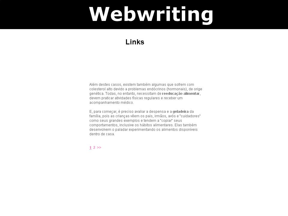 Webwriting Links