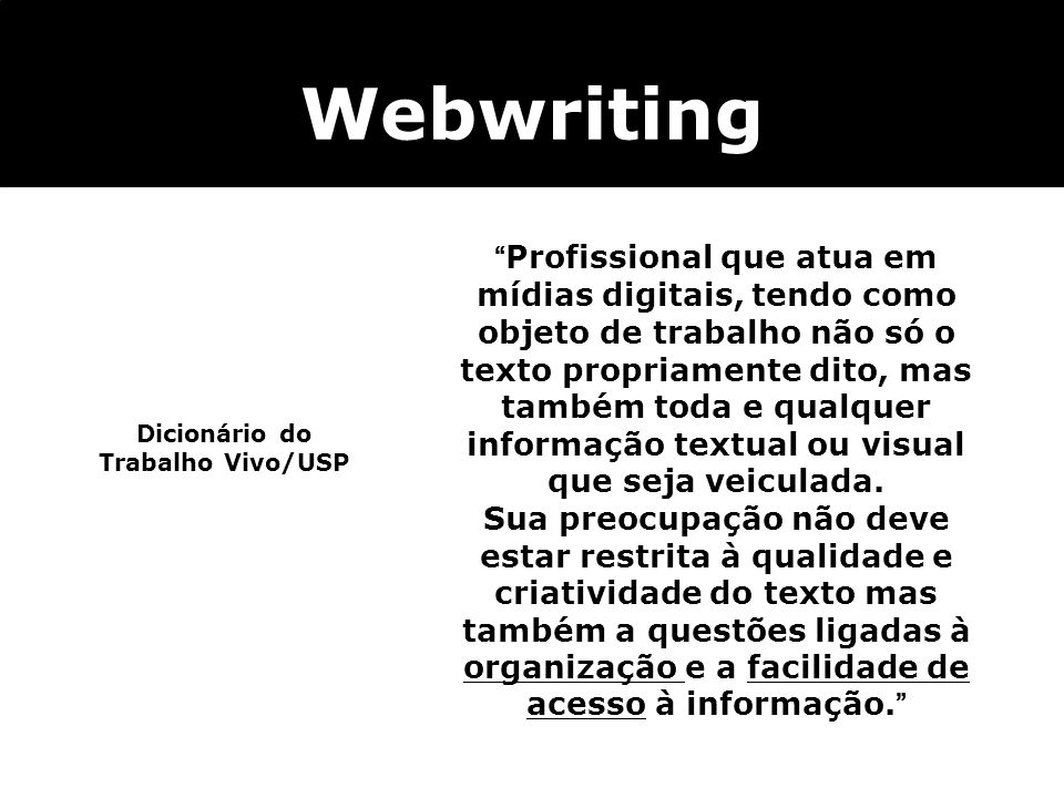 Dicionário do Trabalho Vivo/USP