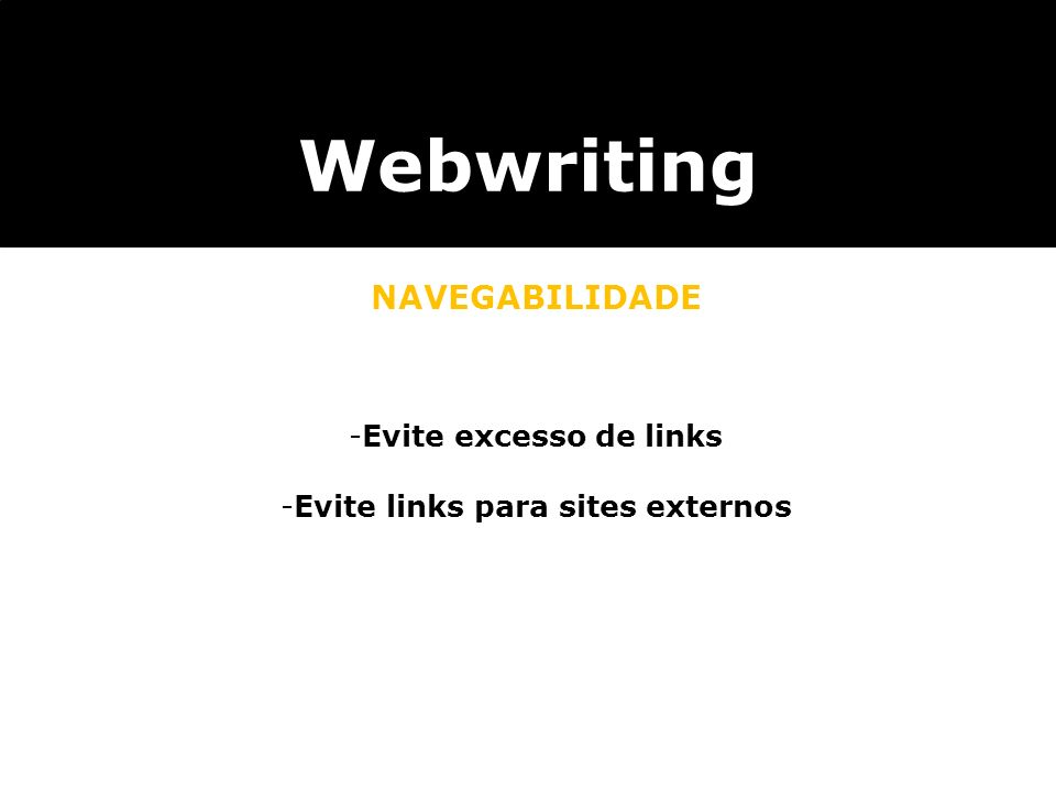 Evite links para sites externos