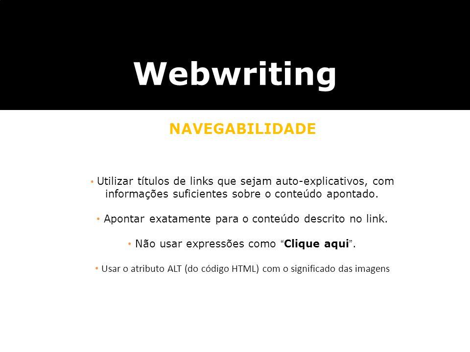 Webwriting NAVEGABILIDADE