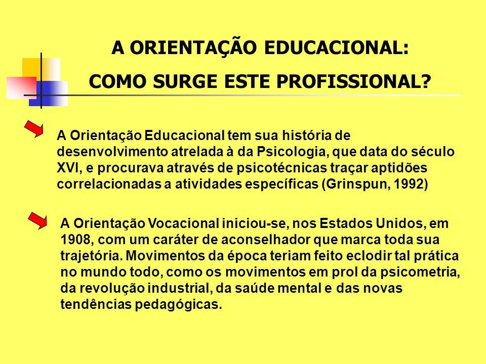 A ORIENTAÇÃO EDUCACIONAL: COMO SURGE ESTE PROFISSIONAL