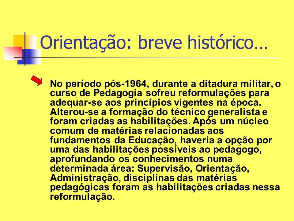 Orientação: breve histórico…