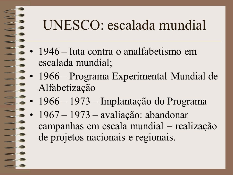 UNESCO: escalada mundial