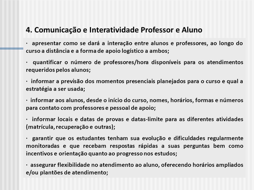 4. Comunicação e Interatividade Professor e Aluno