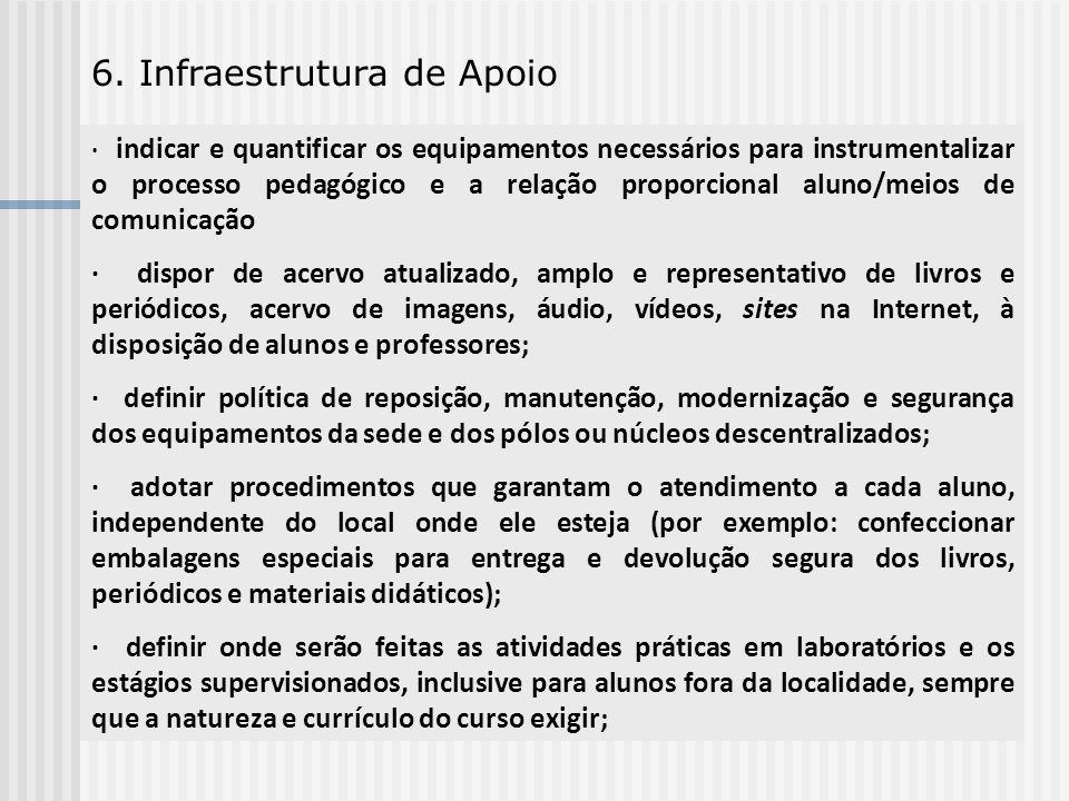 6. Infraestrutura de Apoio