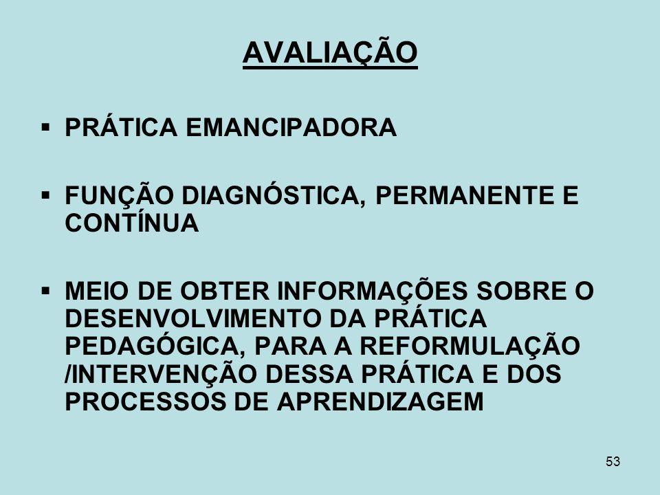 AVALIAÇÃO PRÁTICA EMANCIPADORA