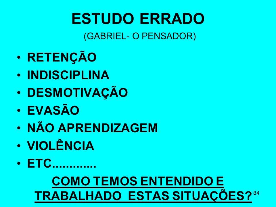 ESTUDO ERRADO (GABRIEL- O PENSADOR)