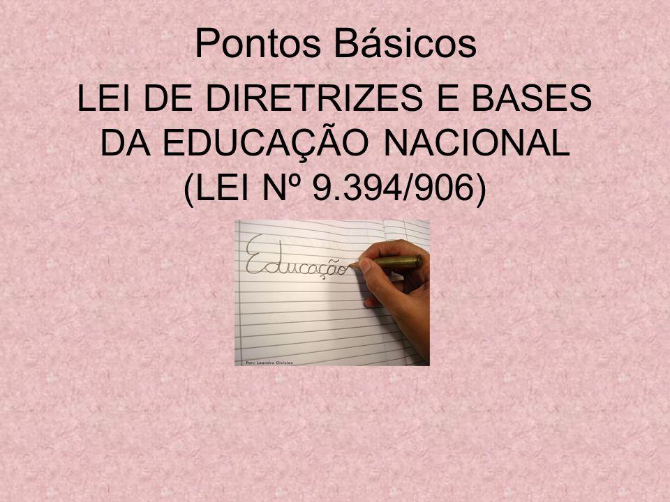 LEI DE DIRETRIZES E BASES DA EDUCAÇÃO NACIONAL (LEI Nº 9.394/906)