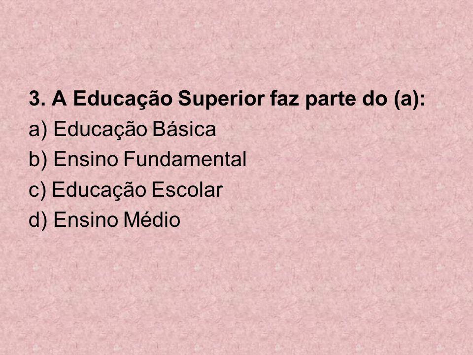 3. A Educação Superior faz parte do (a):