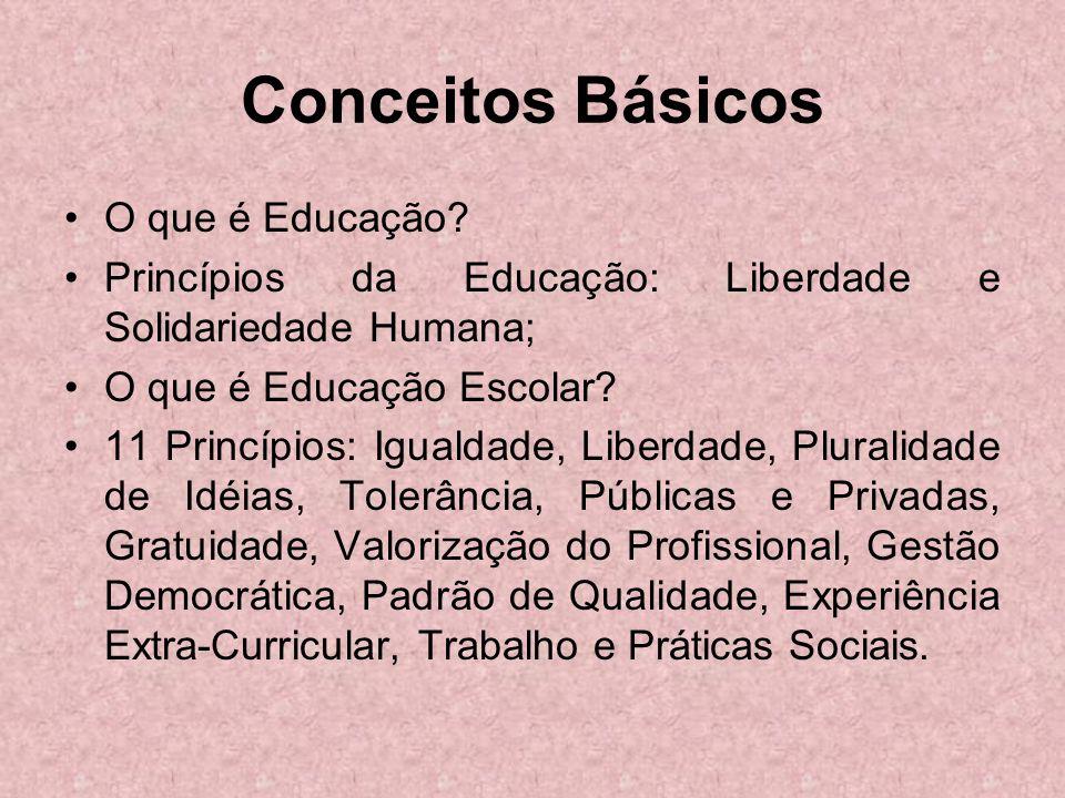 Conceitos Básicos O que é Educação