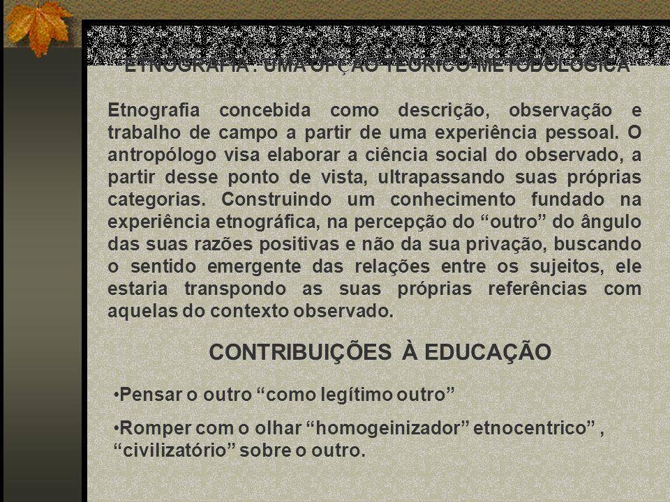 CONTRIBUIÇÕES À EDUCAÇÃO