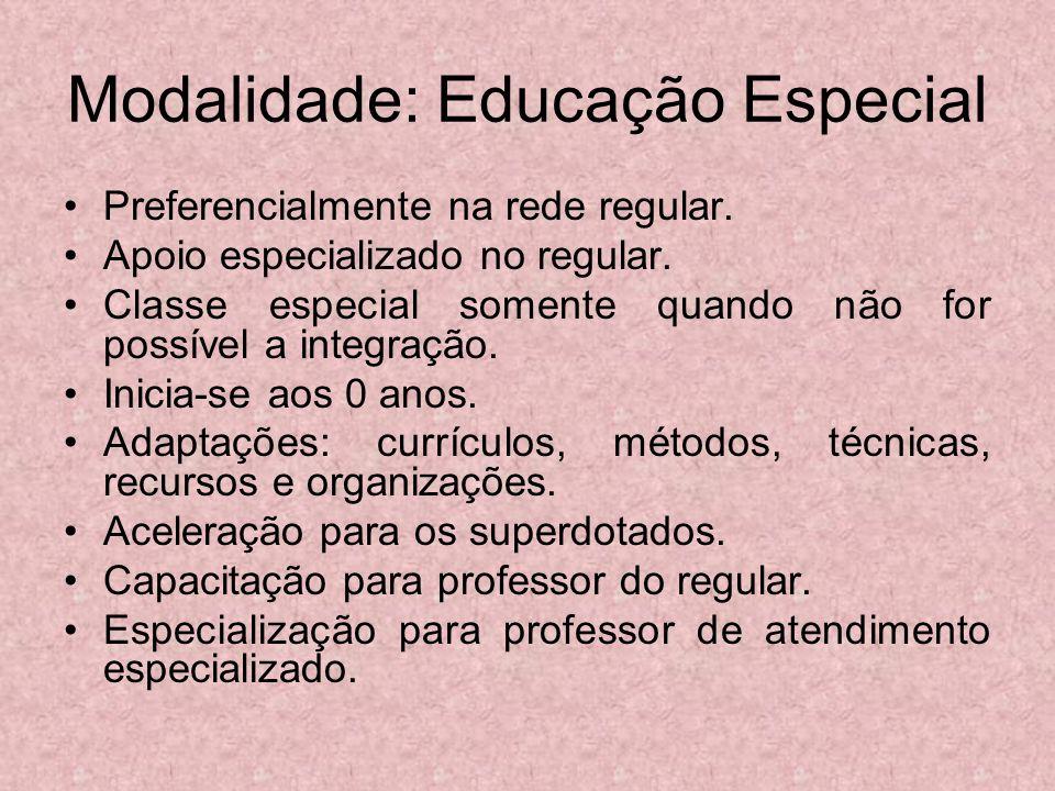 Modalidade: Educação Especial