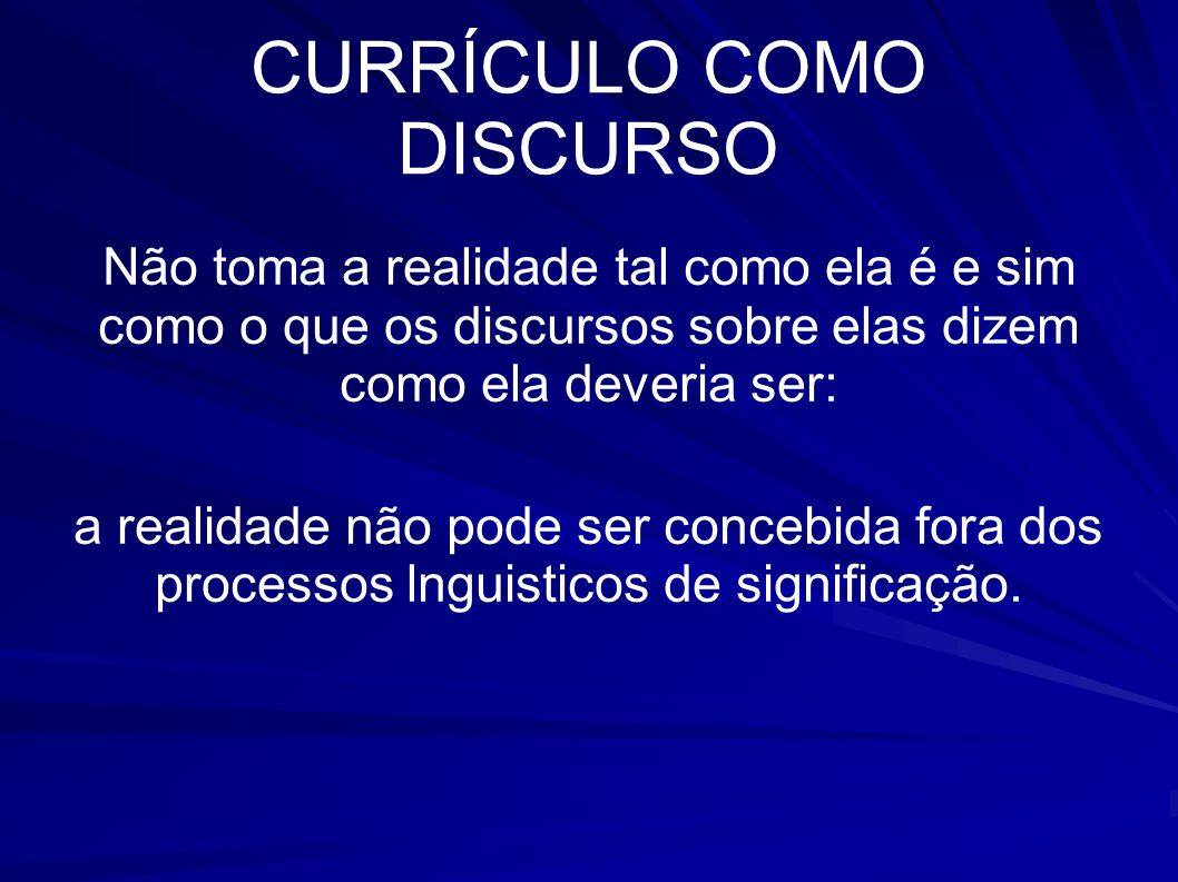 CURRÍCULO COMO DISCURSO