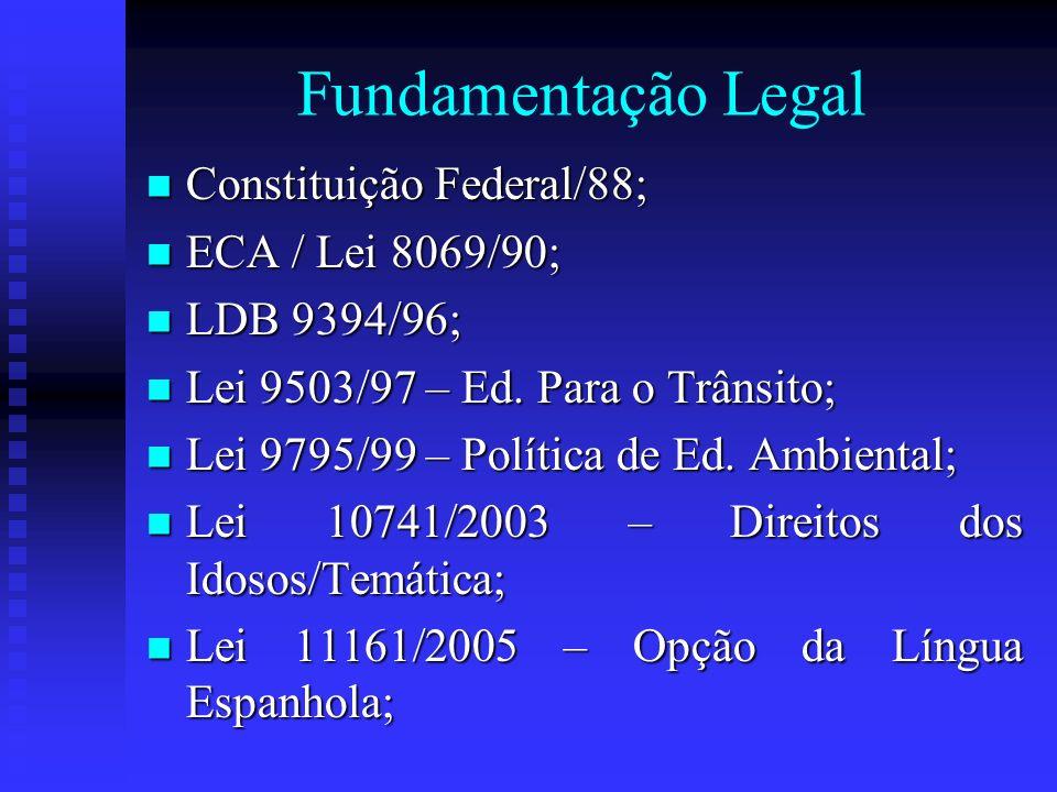 Fundamentação Legal Constituição Federal/88; ECA / Lei 8069/90;