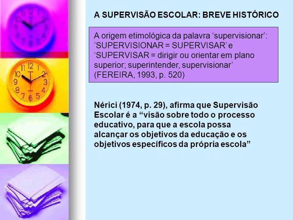 A SUPERVISÃO ESCOLAR: BREVE HISTÓRICO