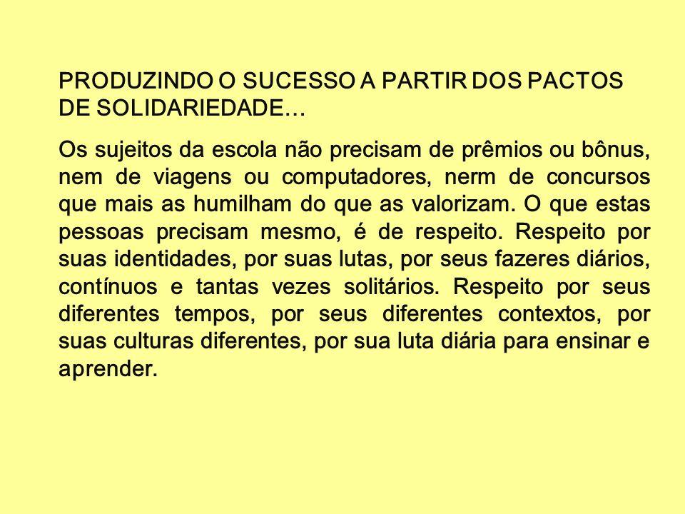 PRODUZINDO O SUCESSO A PARTIR DOS PACTOS DE SOLIDARIEDADE…