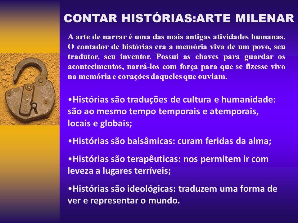 CONTAR HISTÓRIAS:ARTE MILENAR