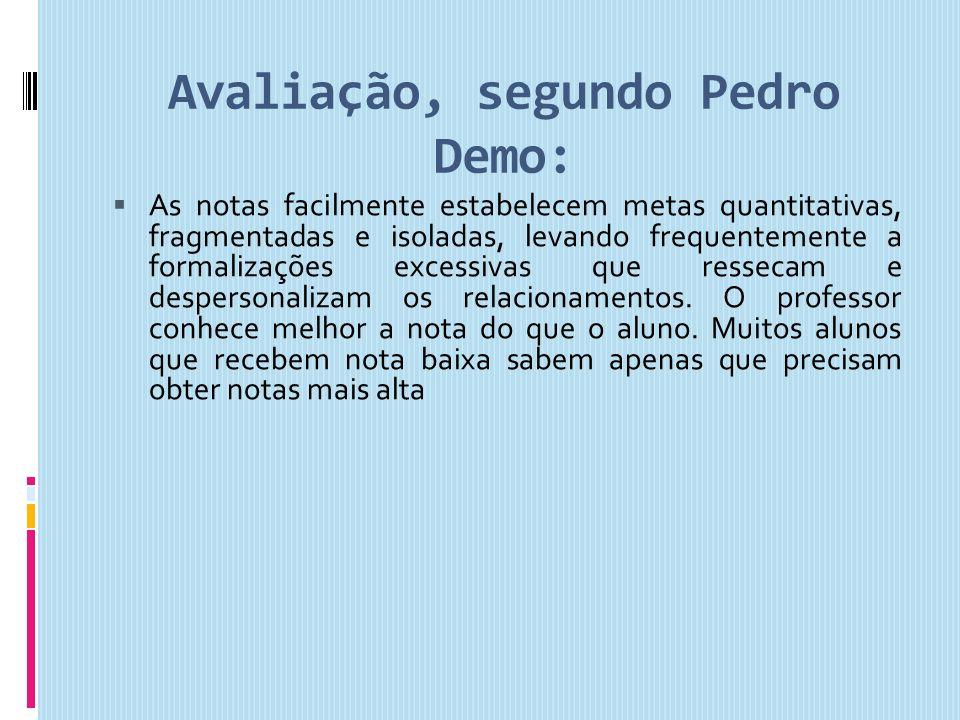 Avaliação, segundo Pedro Demo: