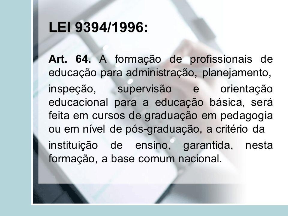 LEI 9394/1996:
