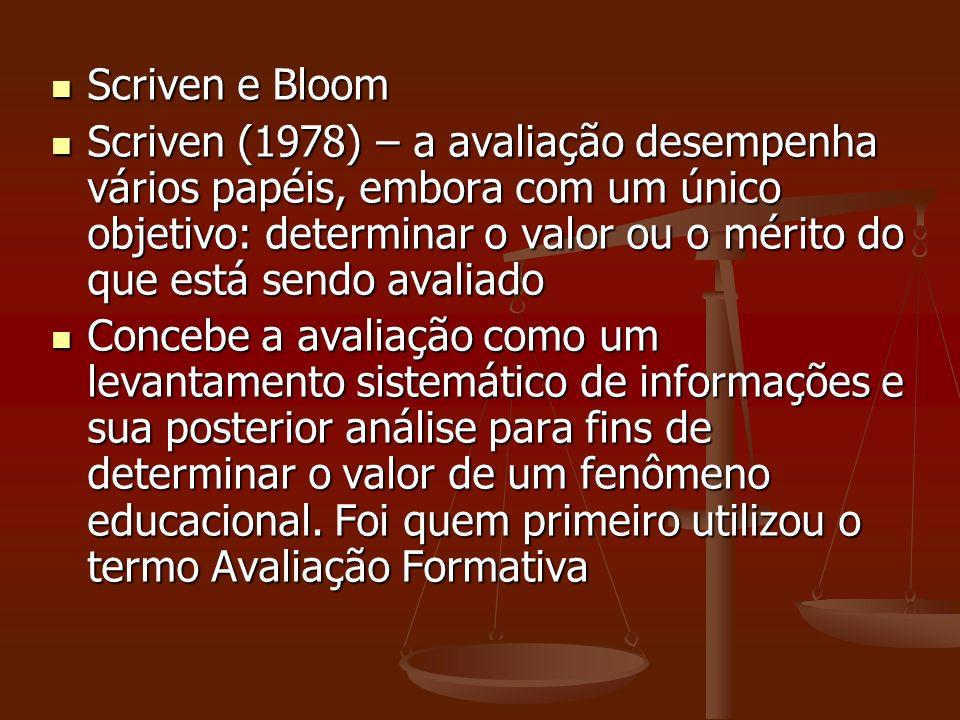 Scriven e Bloom