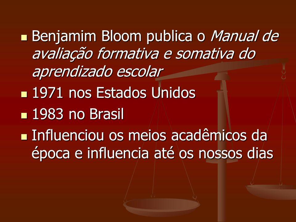 Benjamim Bloom publica o Manual de avaliação formativa e somativa do aprendizado escolar