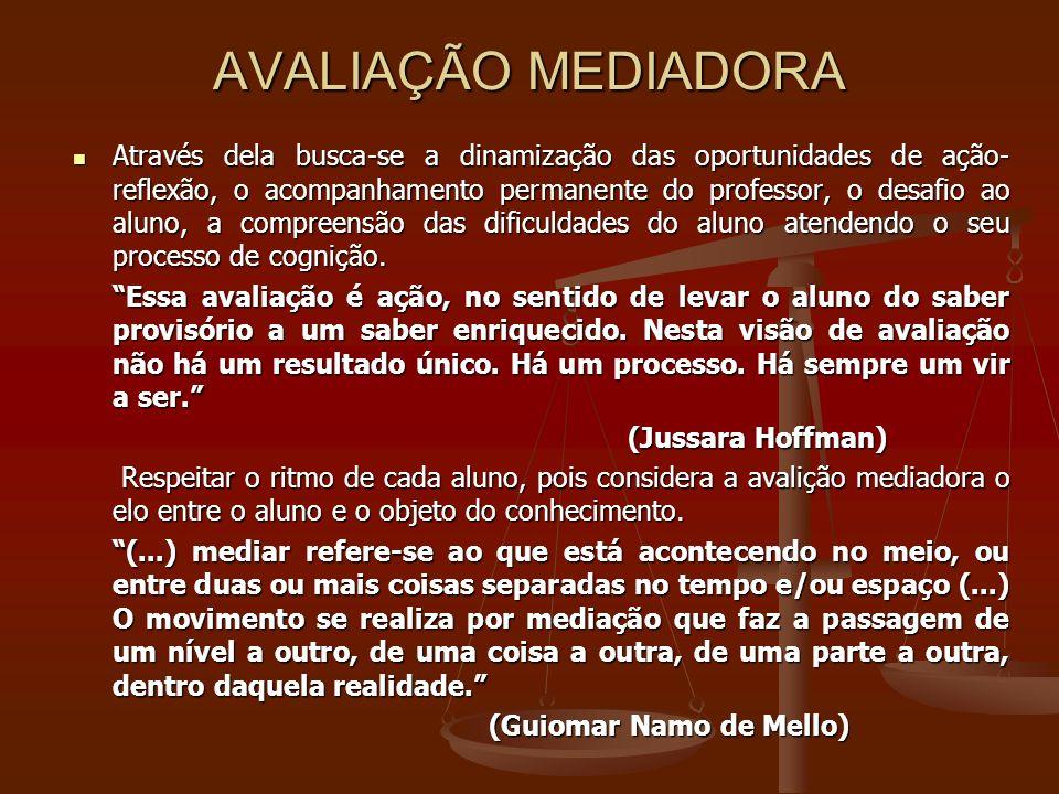 AVALIAÇÃO MEDIADORA