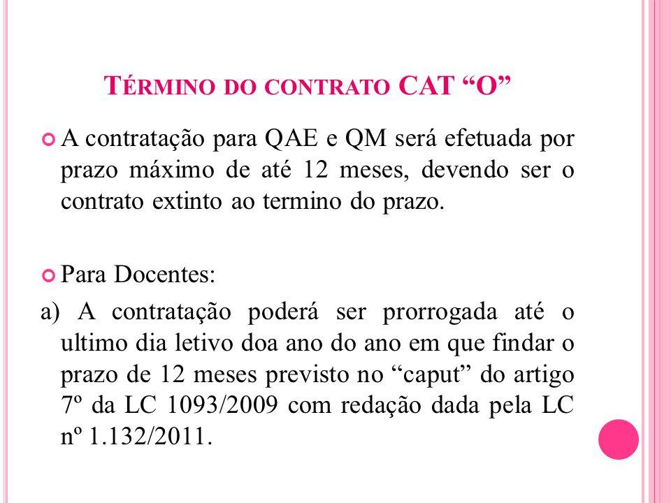 Término do contrato CAT O