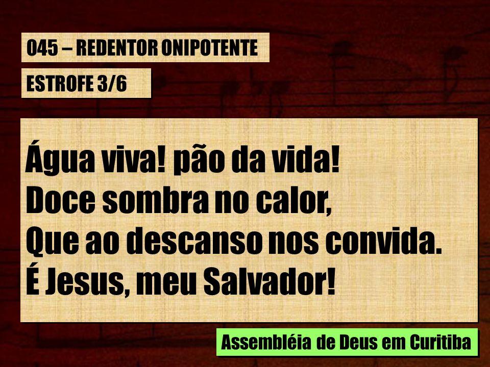 Que ao descanso nos convida. É Jesus, meu Salvador!