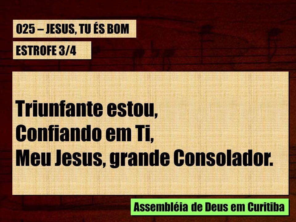 Meu Jesus, grande Consolador.