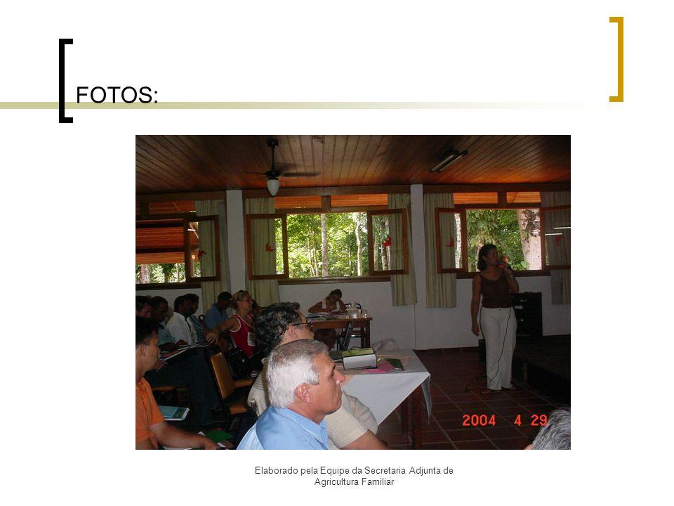 Elaborado pela Equipe da Secretaria Adjunta de Agricultura Familiar