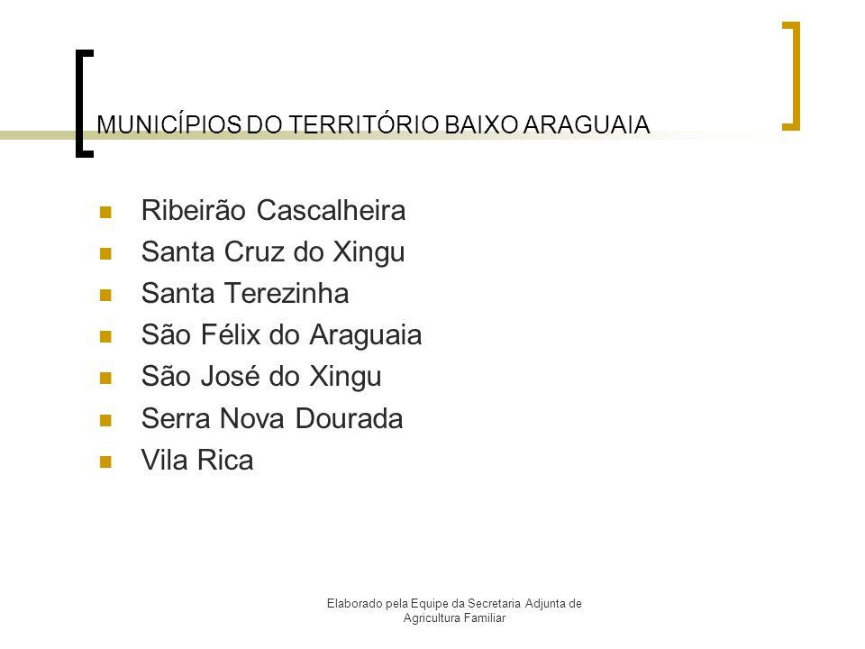 MUNICÍPIOS DO TERRITÓRIO BAIXO ARAGUAIA