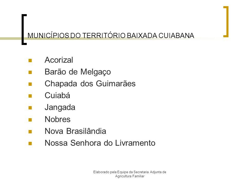 MUNICÍPIOS DO TERRITÓRIO BAIXADA CUIABANA