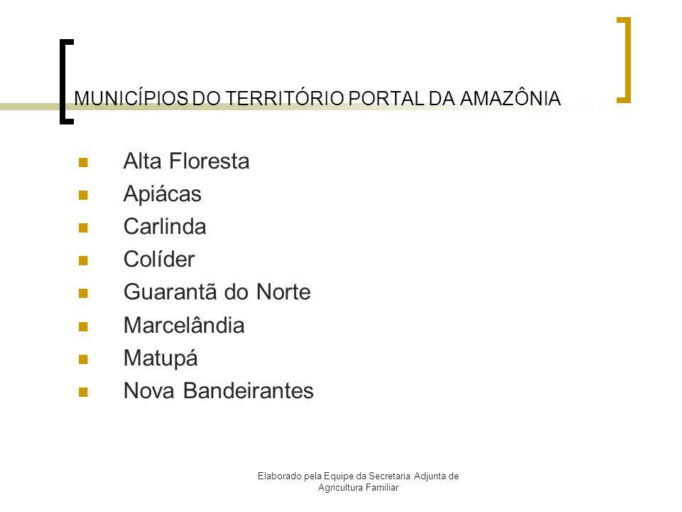 MUNICÍPIOS DO TERRITÓRIO PORTAL DA AMAZÔNIA