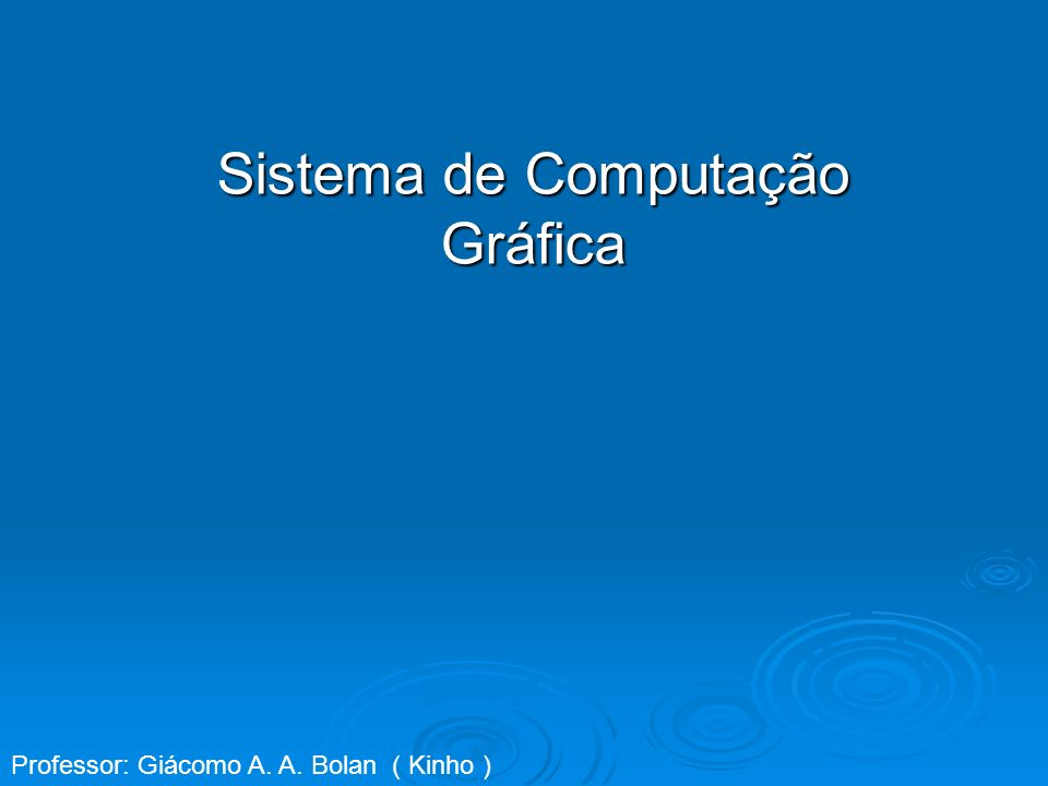 Sistema de Computação Gráfica