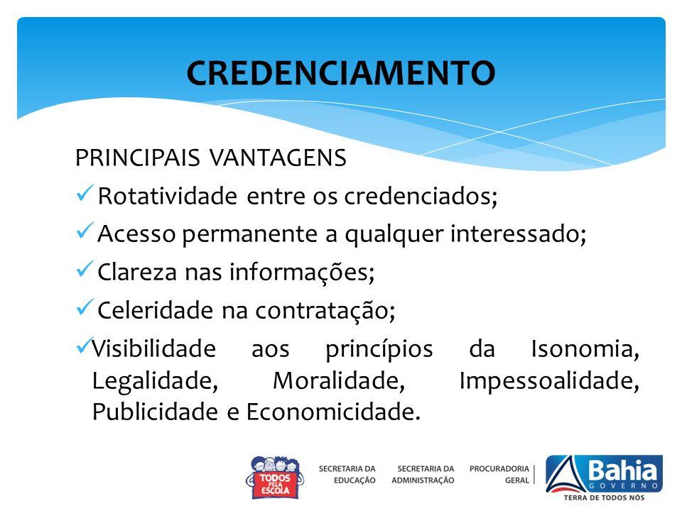 CREDENCIAMENTO PRINCIPAIS VANTAGENS