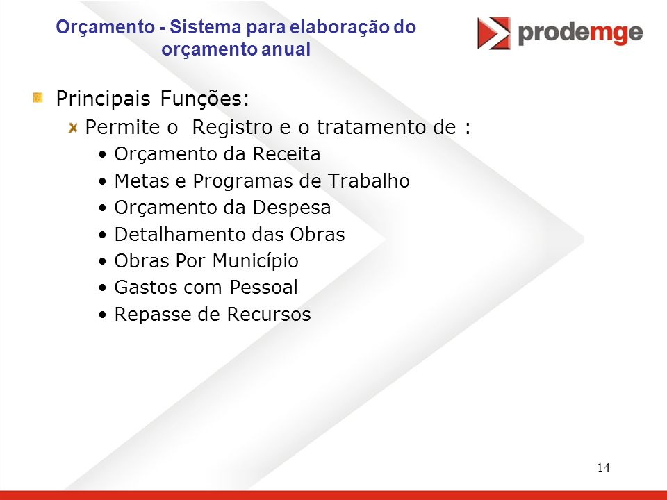 Orçamento - Sistema para elaboração do orçamento anual