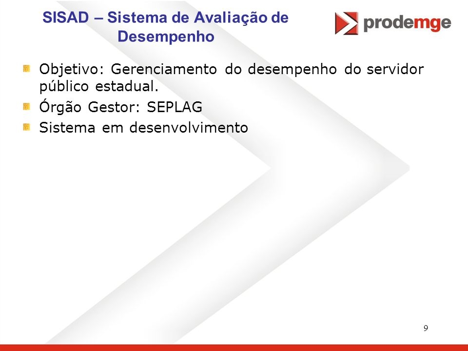 SISAD – Sistema de Avaliação de Desempenho