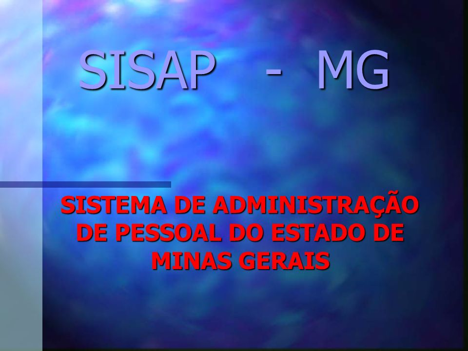 SISTEMA DE ADMINISTRAÇÃO DE PESSOAL DO ESTADO DE MINAS GERAIS