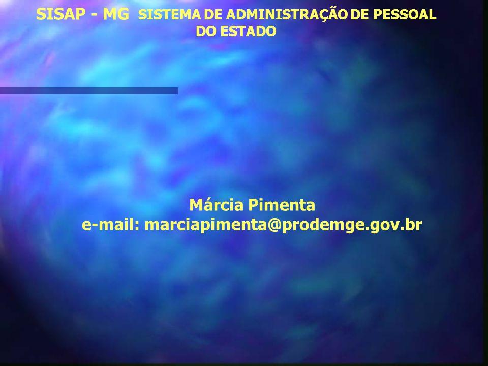 SISAP - MG SISTEMA DE ADMINISTRAÇÃO DE PESSOAL DO ESTADO