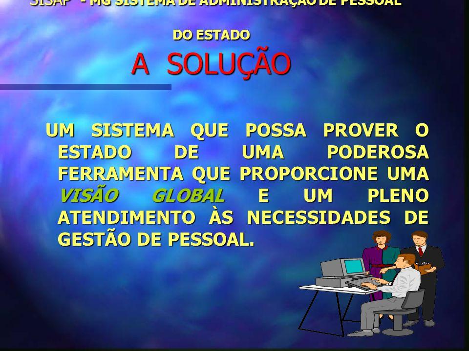 SISAP - MG SISTEMA DE ADMINISTRAÇÃO DE PESSOAL DO ESTADO A SOLUÇÃO